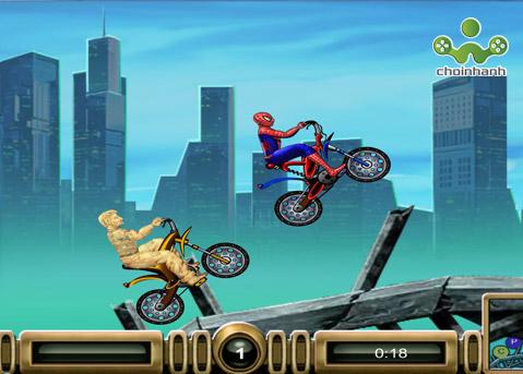 spiderman-dua-xe.